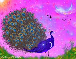 Prissy Peacockhttp://fineartamerica.com/products/prissy-peacock-lora-mercado-canvas-print.html